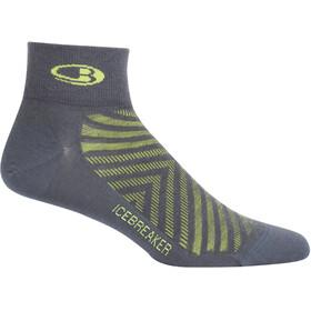 Icebreaker Run+ Ultra Light Mini - Chaussettes Homme - jaune/gris